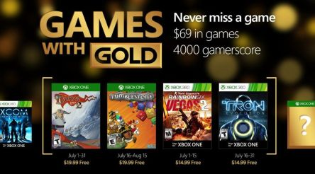 Games with Gold July 2016