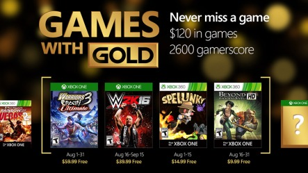 August Games with Gold