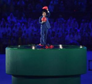Olympics: Japanese PM Abe during closing ceremony